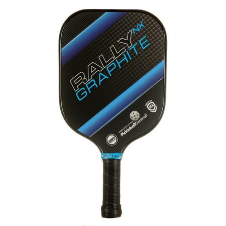 Rally NX Graphite Pickleball Paddle- Blue Carbon Graphite Tennis Racquet