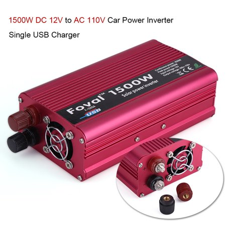 1500W DC 12V to AC 110V Power Inverter Converter W/ Dual Outlets for Home Car Outdoor