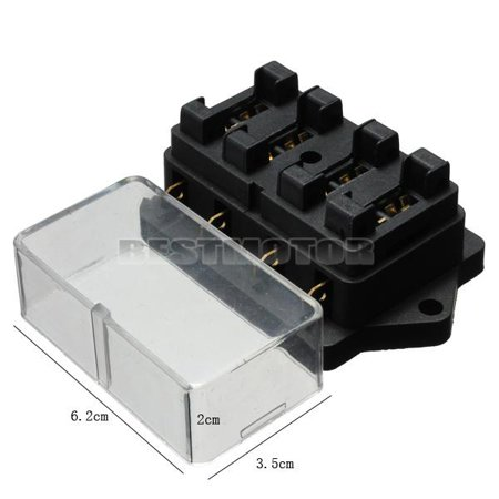 MATCC 12V 4 Way Car cBlade Fuse Holder Box Circuit ATO ATC IN OUT Universal  Auto Vehicle Truck SUV Van Caravan Boat Automotive US STOCK
