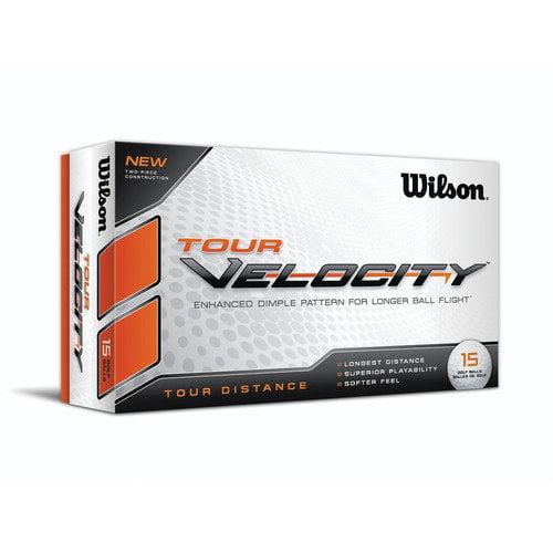 Wilson Tour Velocity Ball Distance (Set of 15)