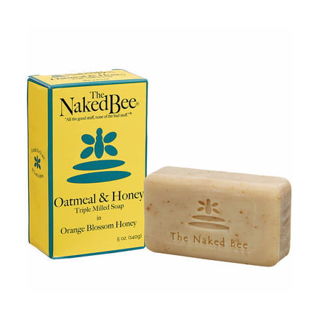 Naked Bee Oatmeal & Honey Triple Milled Bar Soap 5 Oz.