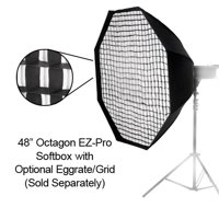 Pro Studio Solutions EZ-Pro 48in (120cm) Octagon Softbox with Soft Diffuser and Speedring Bracket, for Olympus Flash and Panasonic Flash