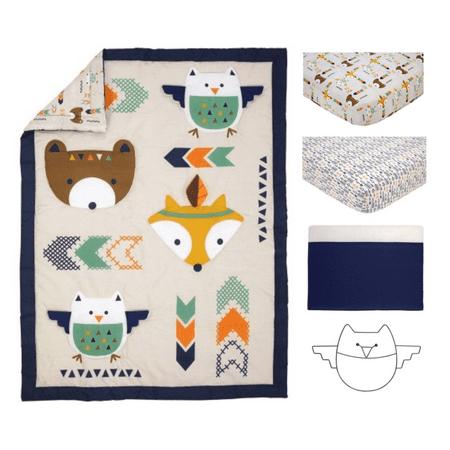 Little Love Aztec 5 Piece Crib Set (Babies R Us Crib To Toddler Bed)