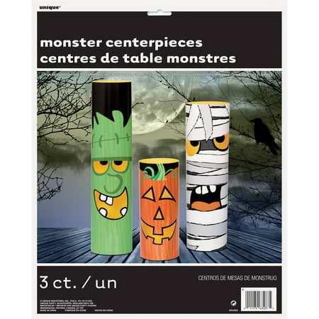 Halloween Monsters Centerpiece Decorations, Assorted 3-Count (Halloween Centerpieces Pinterest)
