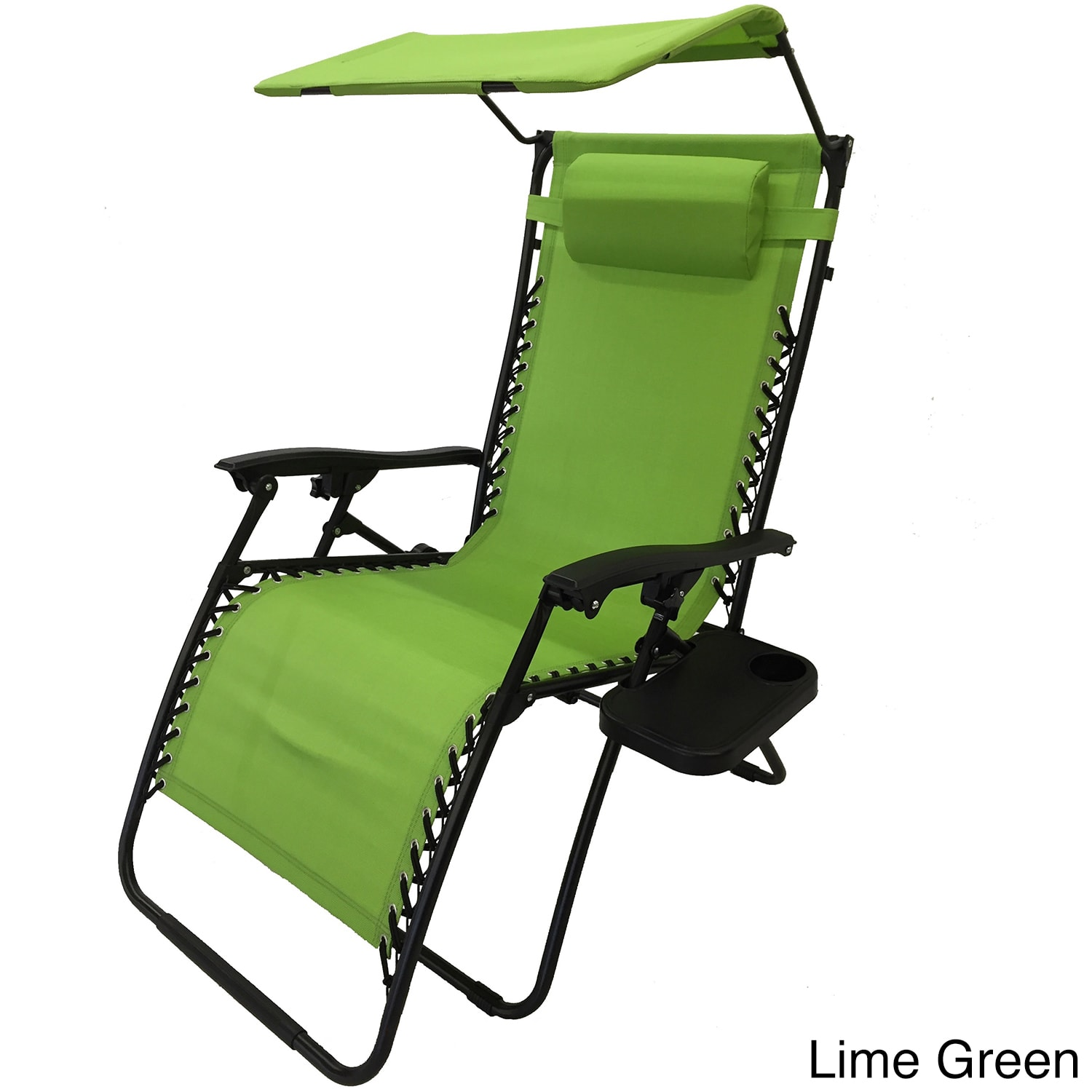 China Mesh Fabric With Steel Frame Zero Gravity Chair With Canopy And Tray