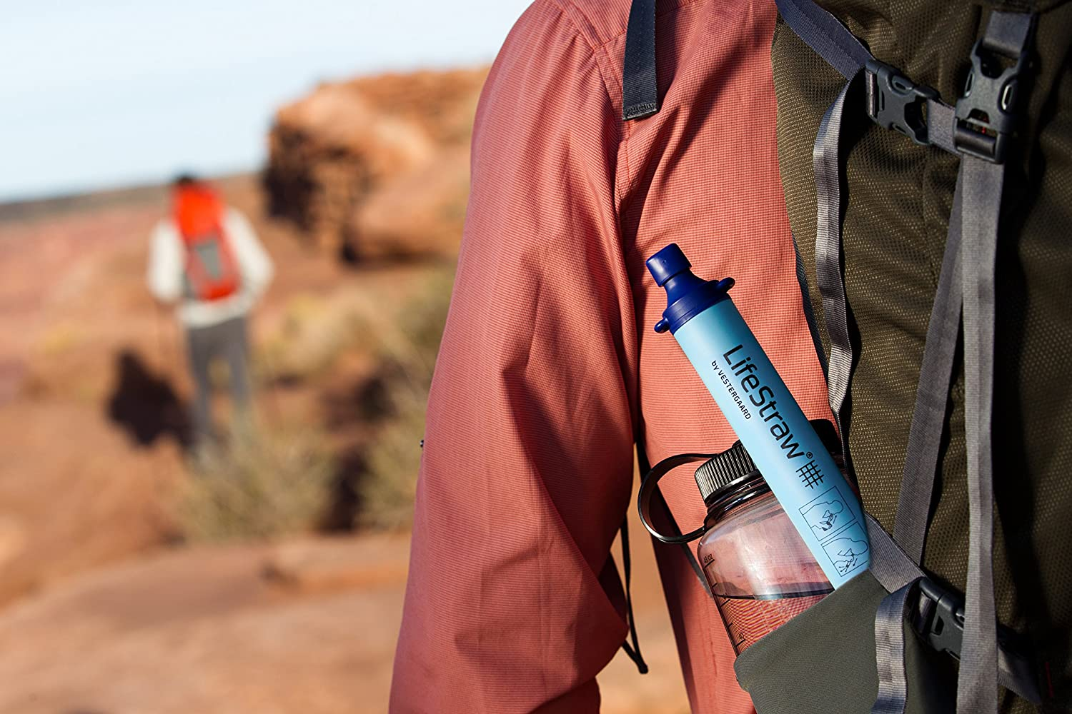 Travel and Emergency Camping 2Pack-LifeStraw Personal Water Filter for Hiking