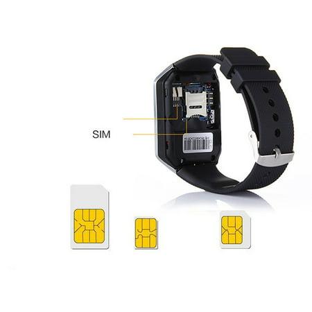 Hd Display Smart Watch Multi-Language Wechat/Qq/ Touch Screen Phone Watch - image 1 de 5