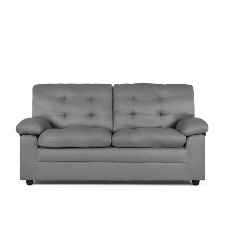 Mainstays Buchannan Upholstered Apartment Sofa, Multiple (Asian Living Room Sofa)