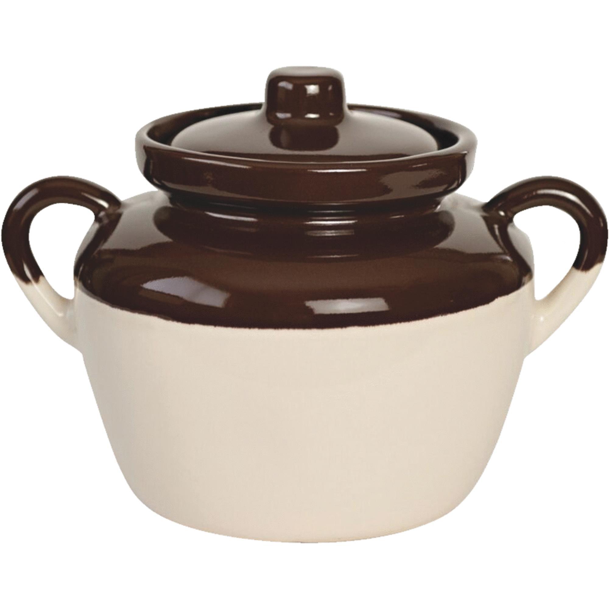 Stoneware 2 Quart Bean Pot Casserole Dish