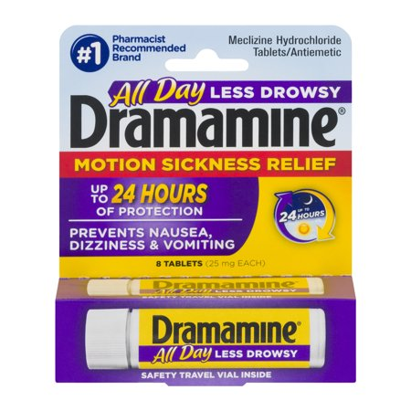 - Dramamine Motion Sickness Relief Tablets - 8 CT
