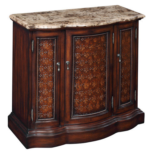 Coast to Coast Imports LLC Marble Top Console Chest