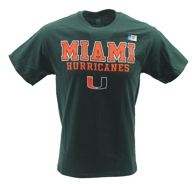 Knight's Apparel Men's NCAA Miami Hurricanes Canes T-Shirt Green