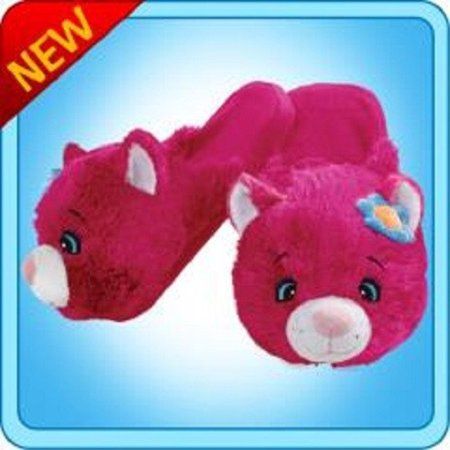 Pillow Pets Authentic Flower Power Cat Slippers Medium Toy Gift check size chart