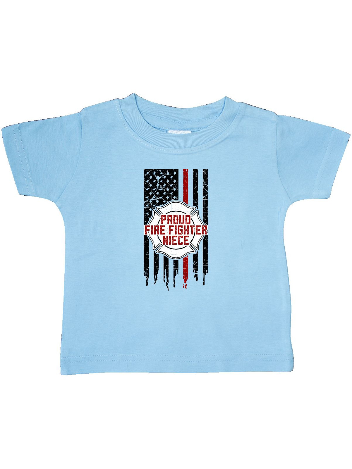 inktastic Proud Firefighter Niece Baby T-Shirt
