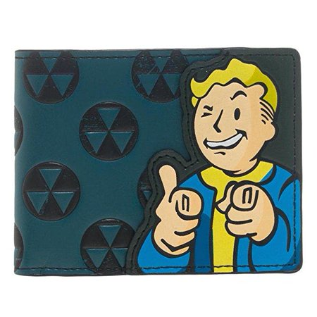 Bethesda Fallout 4 Vault Boy Appliqu With Embossing Bi Fold Wallet Costume Accessory](Fallout Vault Jumpsuit)