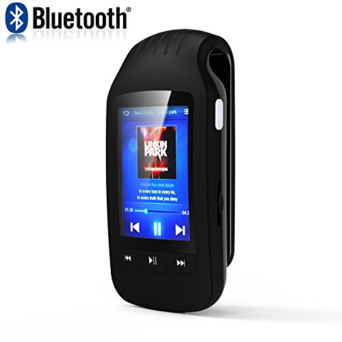 HONGYU Portable Bluetooth MP3 player 8GB Clip Sport music player with FM Radio Voice recording Pedometer Independent Volume C