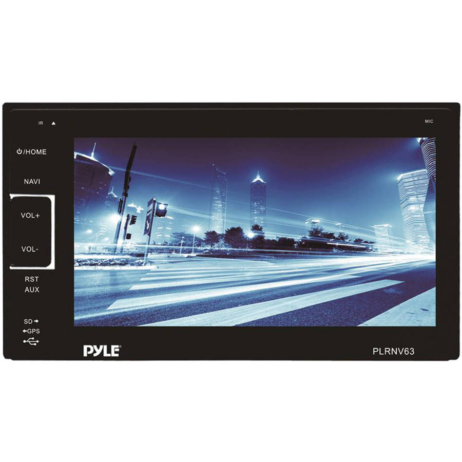 "Pyle PLRNV63 6.5"" Double-DIN In-Dash Navigation Mechless AM/FM-MPX Receiver with GPS and Bluetooth"