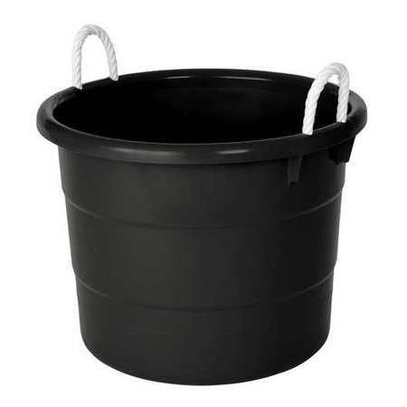ZORO SELECT Storage Tub w/ Rope Handles,18 Gal,Black 0402GRBK.08 - Storage Tub