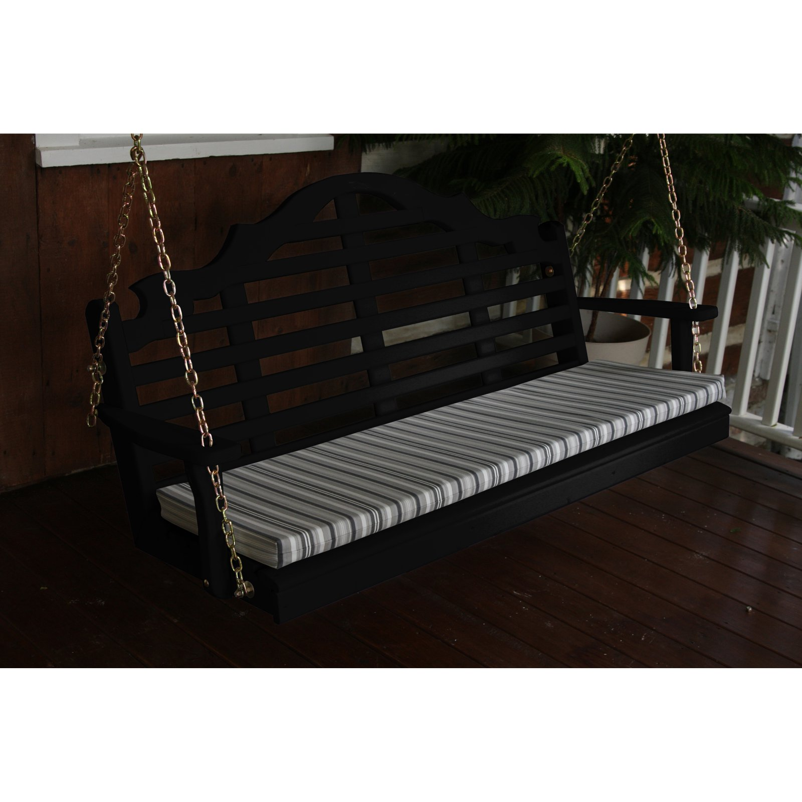 A & L Furniture Yellow Pine Marlboro Porch Swing