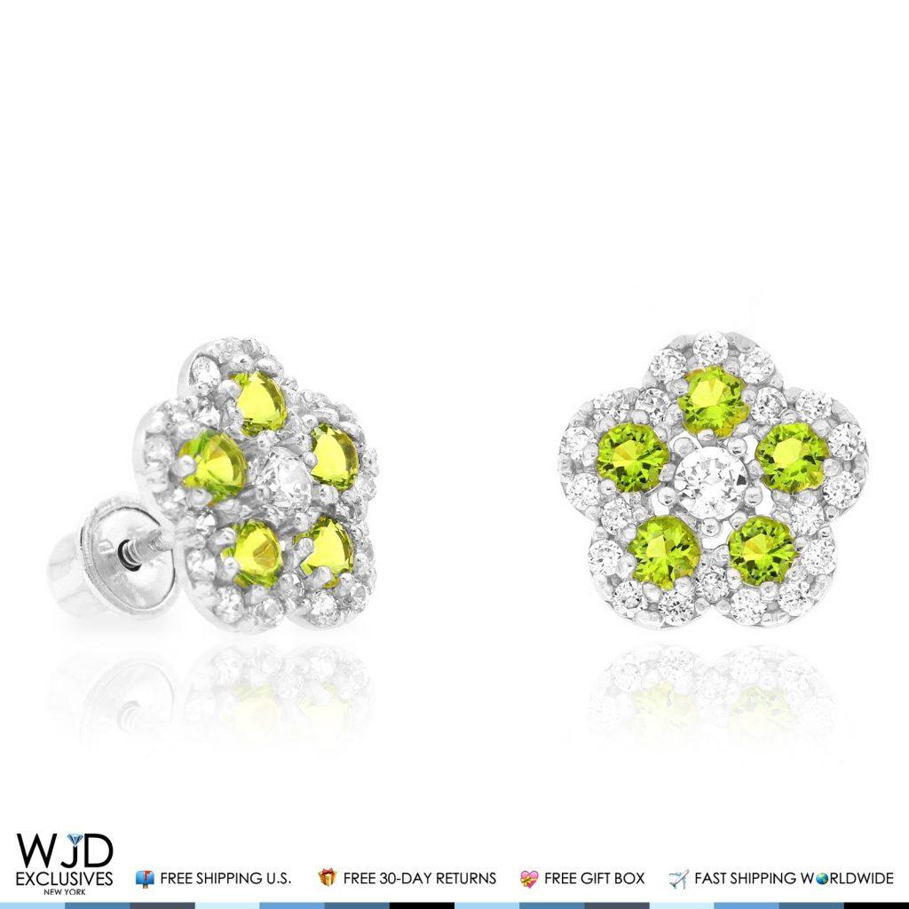0.50 Ct Round Cut D//VVS1 Diamond Dog Paw Stud Earrings 14k White Gold Finish