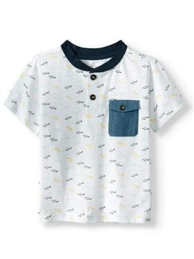 7e60b0baac0 Product Image Fish Print Pocket Raglan T-shirt   Stripe Drawstring French  Terry Short