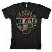 FEA FEA-NV1357-XL Nirvana Established 1988 Guitar Stamp T-Shirt - Black - XL