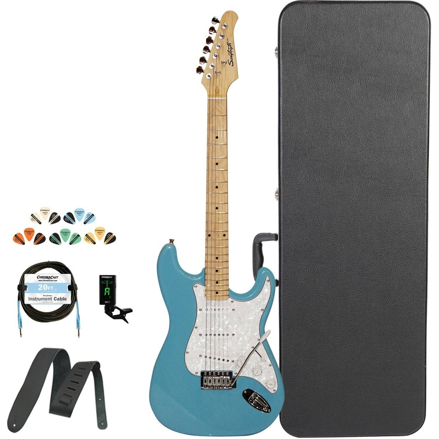 Sawtooth Classic ES 60 Alder Body Electric Guitar Kit with ChromaCast Hard Case & Accessories