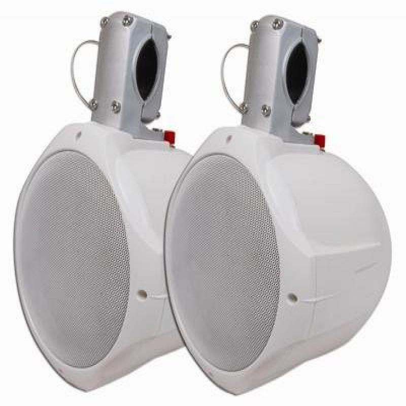 MCM Custom Audio 60-10030 8 Marine Wakeboard Two-Way Speaker Pair White by