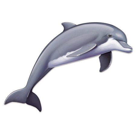 Club Pack of 12 Gray and White Jointed Dolphin Under the Sea Party Decorations 5.7'