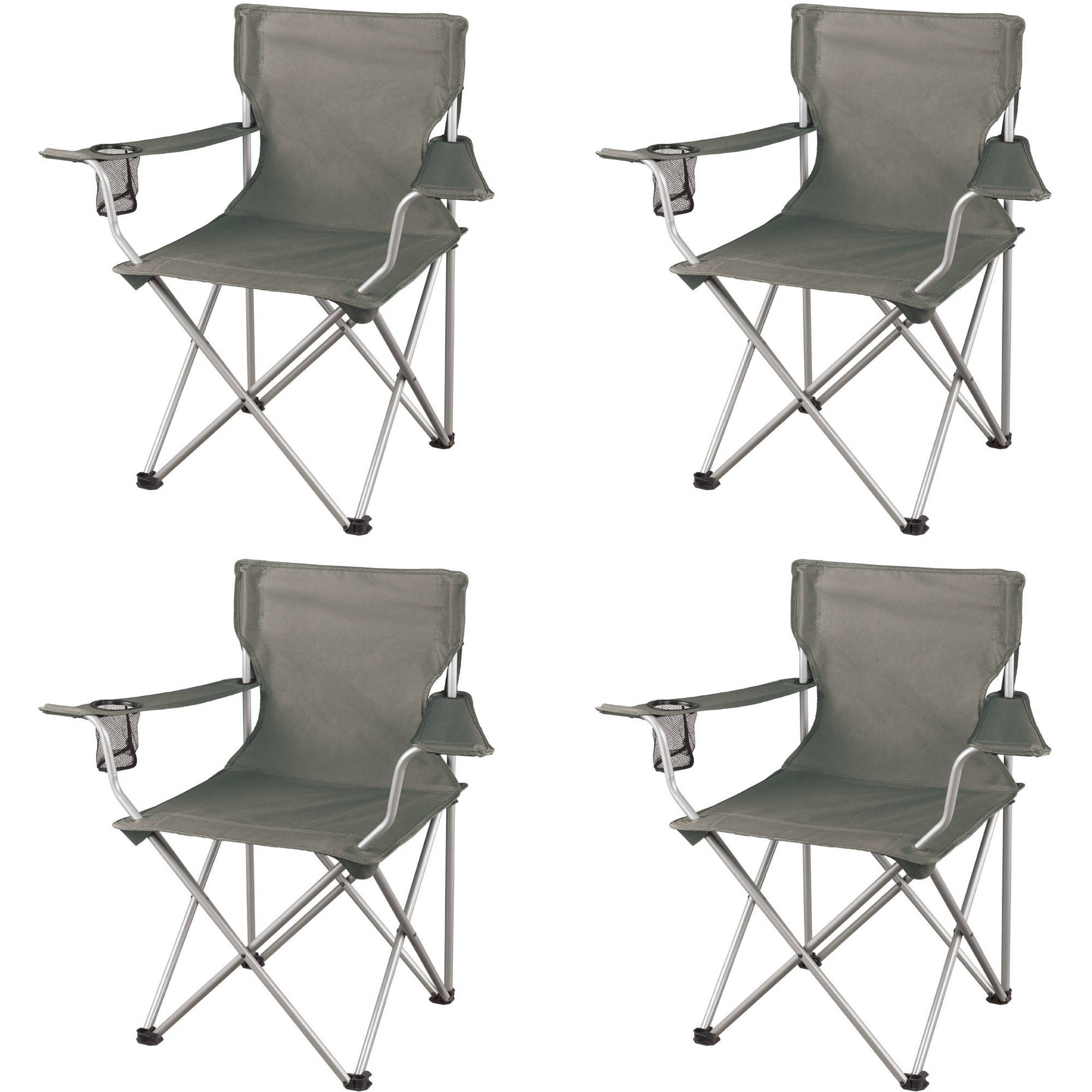 Ozark Trail Regular Arm Chairs Set of 4 Folding Camping Seat New