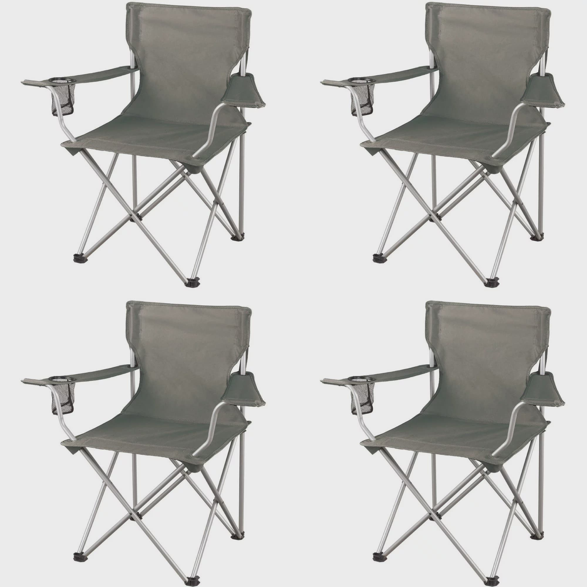 Ozark Trail Classic Folding Camp Chairs Set Of 4 Walmart Com