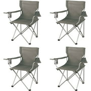 Ozark Trail Classic Folding Camp Chairs, with Mesh Cup Holder,Set of 4