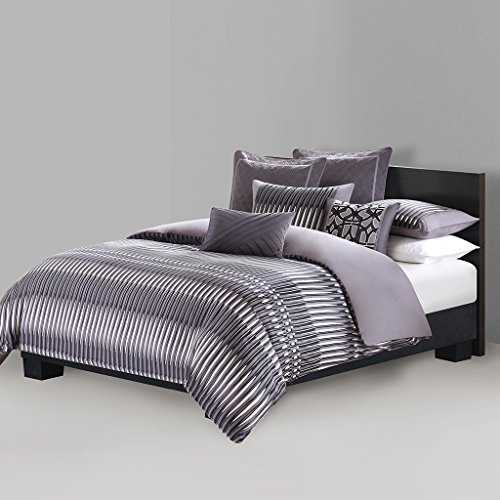 N Natori Abstract Stripe Duvet Cover Mini Set, Queen, Multicolored
