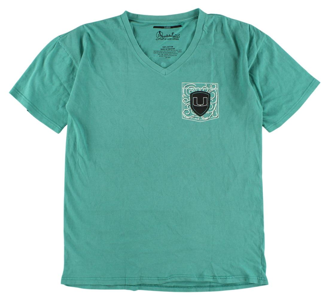 Press Box Womens Miami Hurricanes Anchor Flourish T Shirt Light Emerald