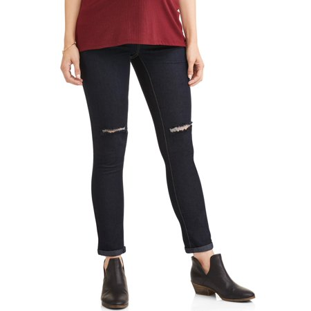 537d842c37c04 Oh! Mamma - Maternity Frayed Hem Overbelly Skinny Jeans - Available in Plus  Sizes - Walmart.com
