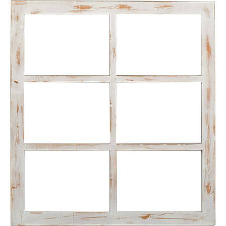 weathered wood window frame