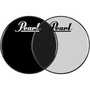 Pearl Logo Front Bass Drum Head Ebony 22 in.