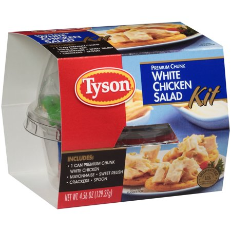 Tyson Premium White Chicken Chunk Salad Kit  4 46 Oz
