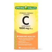 Spring Valley Stomach Friendly Vitamin C Tablets, 1000 mg, 90 Ct