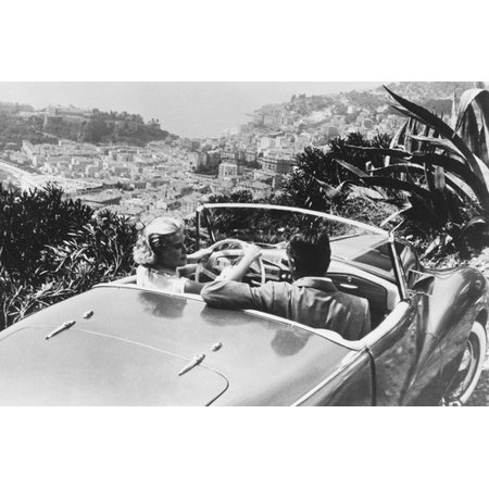To Catch A Thief Grace Kelly Cary Grant in Sunbeam Alpine overlooking Monaco 24x36 Poster