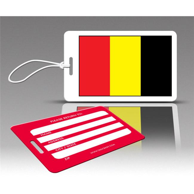 Insight Design 770500 TagCrazy Luggage Tags- Belgium Flag- Set of Three