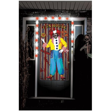 Clown Creepy Greeters with Lights and Sound Halloween Decoration (Creepy Halloween Decoration Ideas Diy)