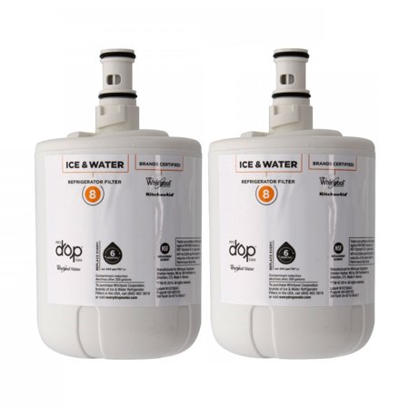 Whirlpool EveryDrop EDR8D1 8171413 8171414 Filter 8 Refrigerator Ice &  Water Filter - 2 Pack