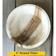 """Bio Mart Leaf Tableware/100% Natural-Eco-friendly/Re-usable/Elegant/Compostable/Disposable/Biodegradable/Party,Wedding,BBQPlates & Bowls- 6"""" Round Pie Plate - Bowls - Pack of 10 or 30"""
