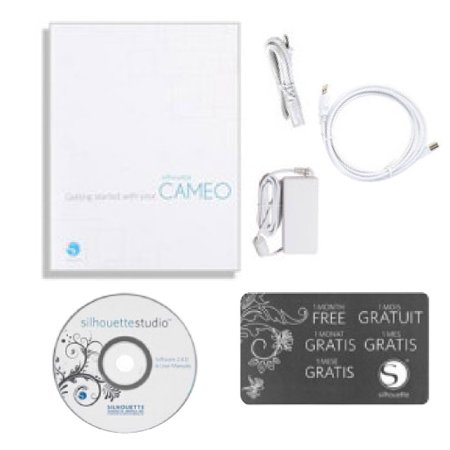 Silhouette Cameo Machine Bundle with Cover, Tools and Exclusive Designs
