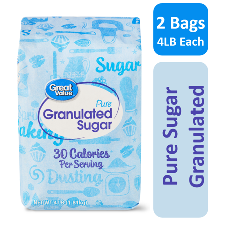 (2 Pack) Great Value Pure Cane Sugar, 4 (Annona Squamosa Sugar)