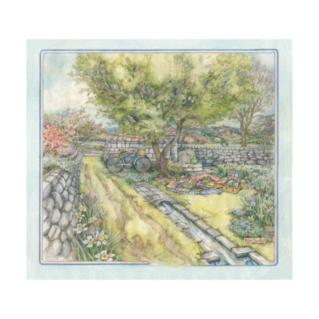 Spring Picnic Print Wall Art By Kim Jacobs