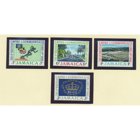 Jamaica Scott #254 To 257 - Commonwealth Games Issue From 1966 - Collectible Postage Stamps