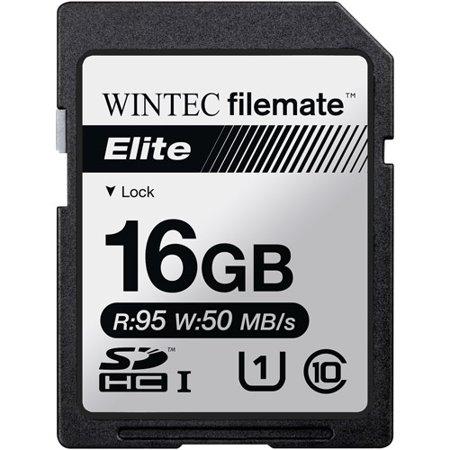 Wintec Filemate Elite 16GB SDHC UHS-1 Memory Card Class (Wintec 1 Gb Memory)