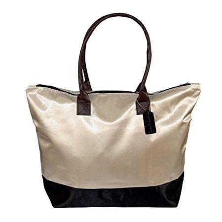 Peach Couture Womens Beach Fashion Large Travel Tote Handbag Shoulder Bag (Couture Satchel)